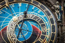Detail Of Astronomical Clock Of Prague