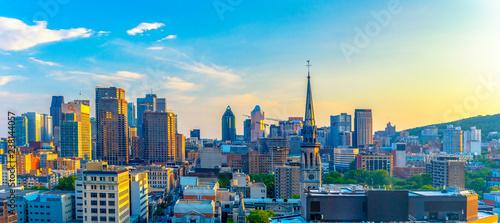 Montreal, Quebec, Canada: city skyline from a downtown hotel Slika na platnu
