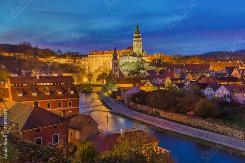 Fotografija  Cesky Krumlov cityscape in Czech Republic