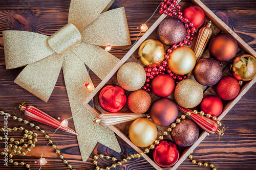 Image result for christmas decorations in a box