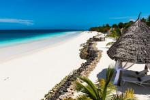 Beautiful Beach By The Blue Wa...