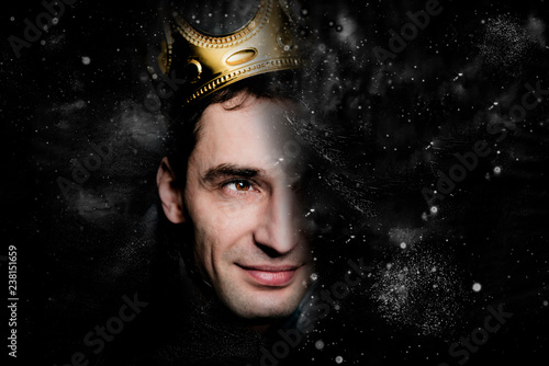 The man in a crown, the space king