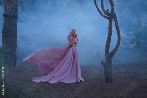 Photo wonderful herbalist enchantress with blond hair, dressed in an expensive luxurio