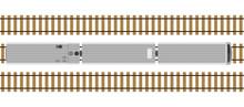 Modern Train On Rails Isolated...