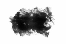 Texture Stain From Paint Roller On White Background. Concept For Print.