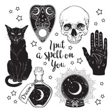 Magic Set - Planchette, Skull,...