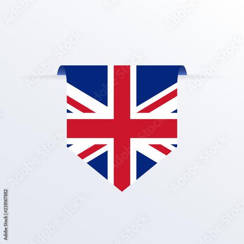 Photo  UK flag ribbon or pennant