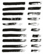Paint Brush Thin Lines High Detail Abstract Vector Background Set 70