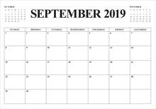 September 2019 Desk Calendar V...