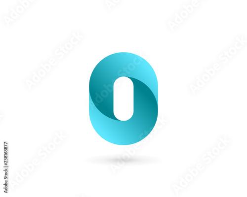 Fotografía  Letter O number 0 logo icon design template elements