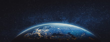 Planet Earth - Europe. Elements Of This Image Furnished By NASA