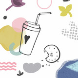 70-doodle-coffee-biscuits-illustration - 238169801