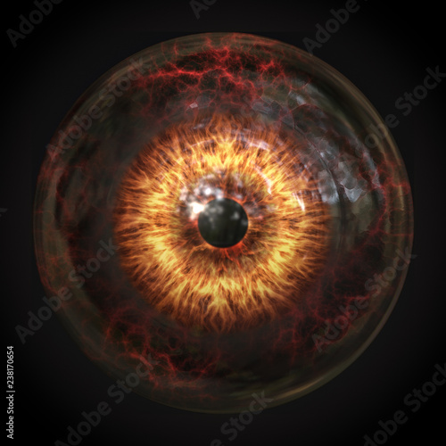 Photo scary devils eyeball