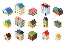 House Street Isometric Icons S...