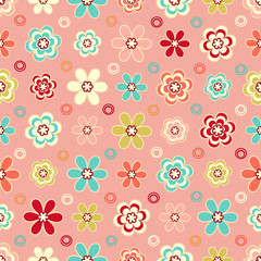 Seamless pattern with a floral pattern.