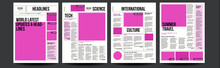 Newspaper Vector. With Text Ar...