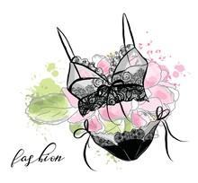 Fashion Sketch Women's Lace Se...