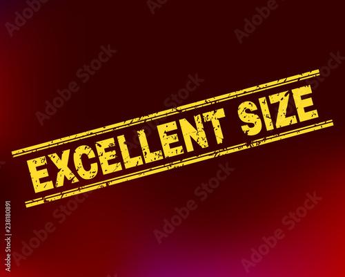 Fotografía  Grunge Excellent Size stamp seal on complex gradient background
