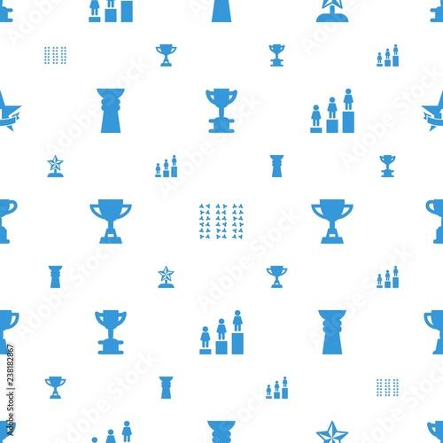 Fotografía  championship icons pattern seamless white background