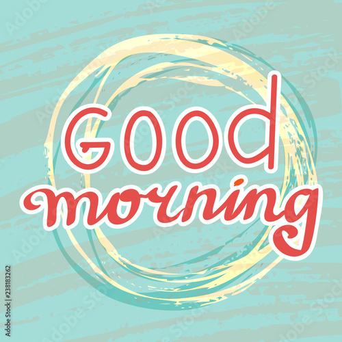 Good morning hand write sketch vector Fototapeta