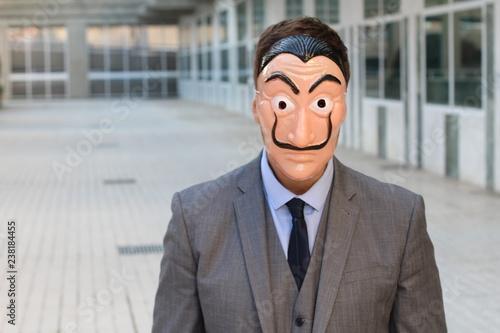 Photo Elegant businessman with a mask