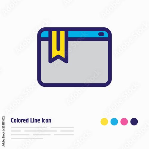 Fotografie, Obraz  Vector illustration of bookmark service icon colored line