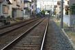 住宅地に隣接した線路