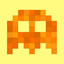 Cute Pacman Monster In Pixel F...