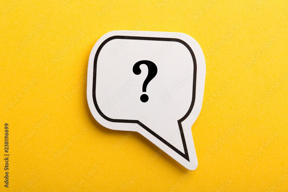 Fototapeta Question Mark Speech Bubble