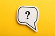 Question Mark Speech Bubble