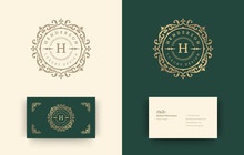 Luxury Logo Monogram Crest Template Design Vector Illustration.