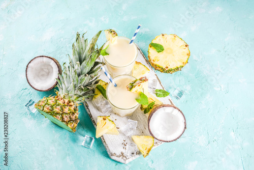 Iced pina colada cocktail Canvas Print