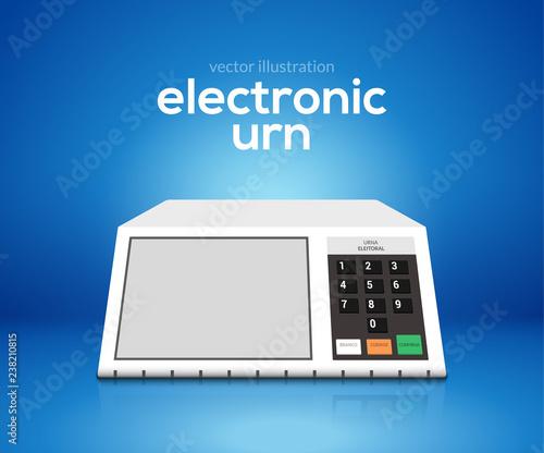 Electronic urn voting computer Fotobehang