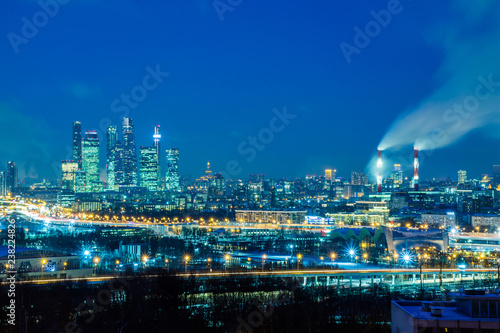 Foto op Canvas Aziatische Plekken Moscow international business center