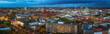 Leinwanddruck Bild - Blick über Hannovers Innenstadt im Herbst