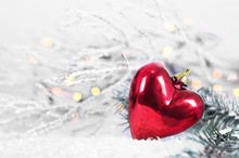 Christmas Heart Ornament In Th...