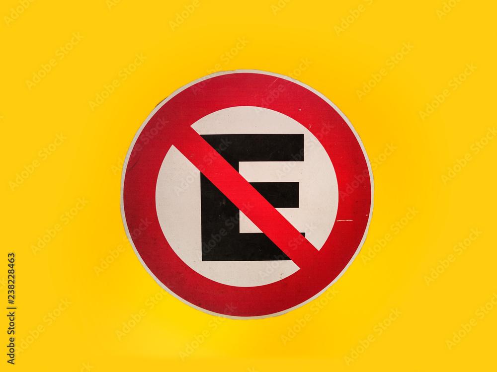 Fotografía Cartel Prohibido Estacionar Europosterses