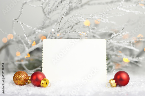 Fotografía  Blank Christmas card