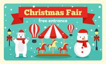 Christmas Fair Tale Banner. Fl...