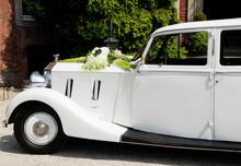 White Old-timer Car Outdoor De...