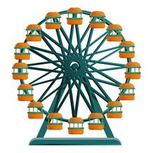 Ferris Wheel Icon. Cartoon Of Ferris Wheel Vector Icon For Web Design Isolated On White Background