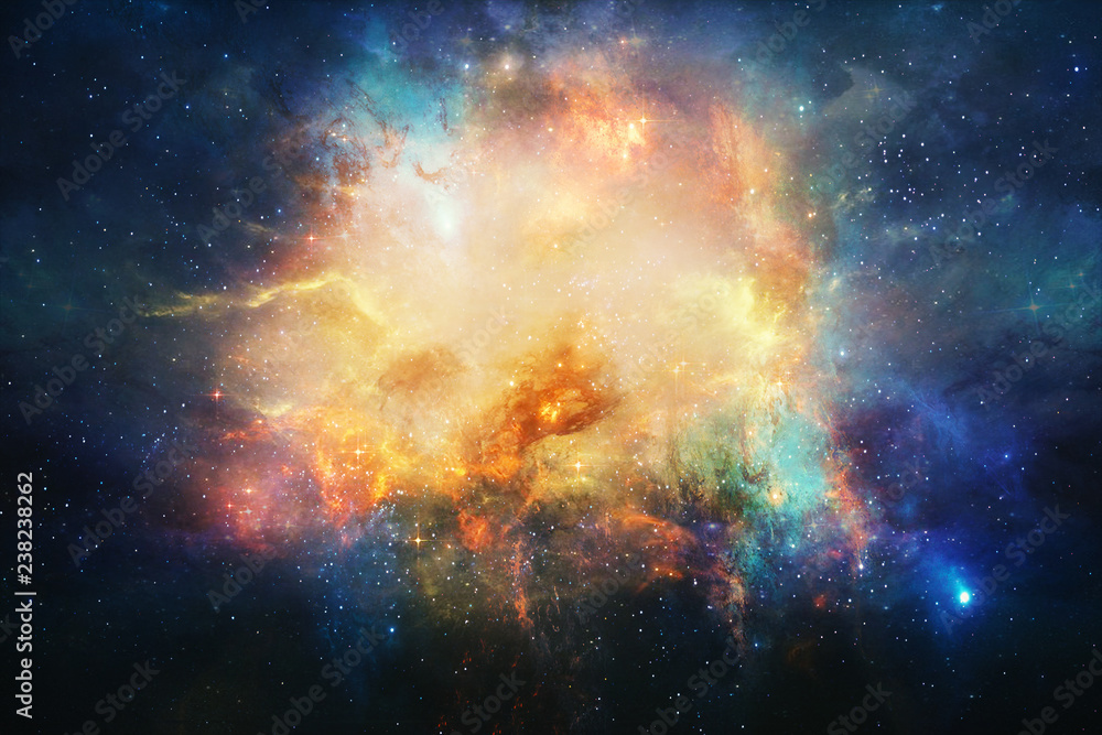 Fototapety, obrazy: Abstract Artistic Nebula In Outer Space Background