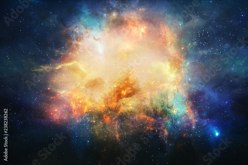 Photo  Abstract Artistic Nebula In Outer Space Background