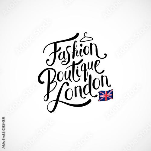 Spoed Fotobehang Halloween Fashion Boutique London Concept on White