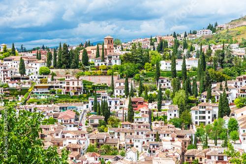 View of the Albaicin (El Albayzin) medieval district of Granada, Andalusia, Spai Fototapet