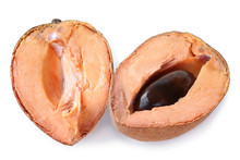 Mamey Sapote (Pouteria Sapota) Fruit Cut In Half