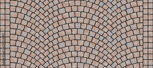 Photo  Road curved cobblestone texture 066