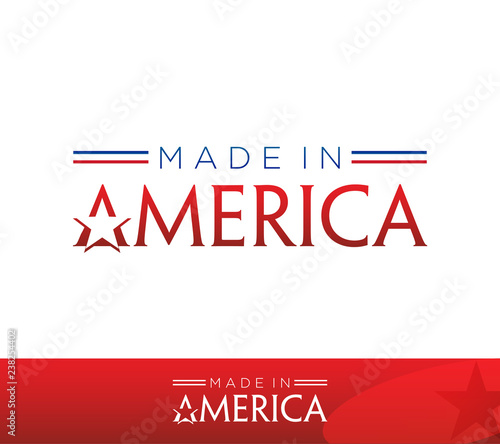 Photographie  Made in America Isolated Vector Icon