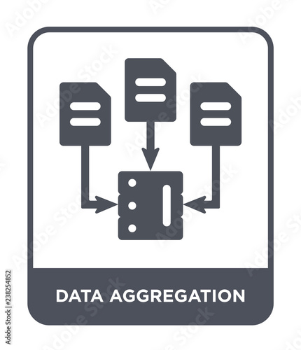 data aggregation icon vector Canvas Print