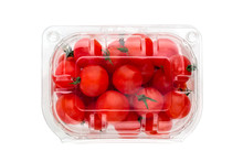 Cherry Tomatoes In A Plastic C...